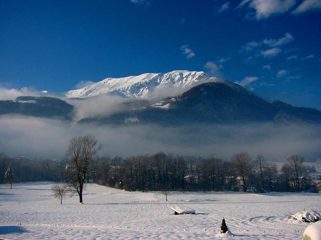 Winter view of  Valsassina