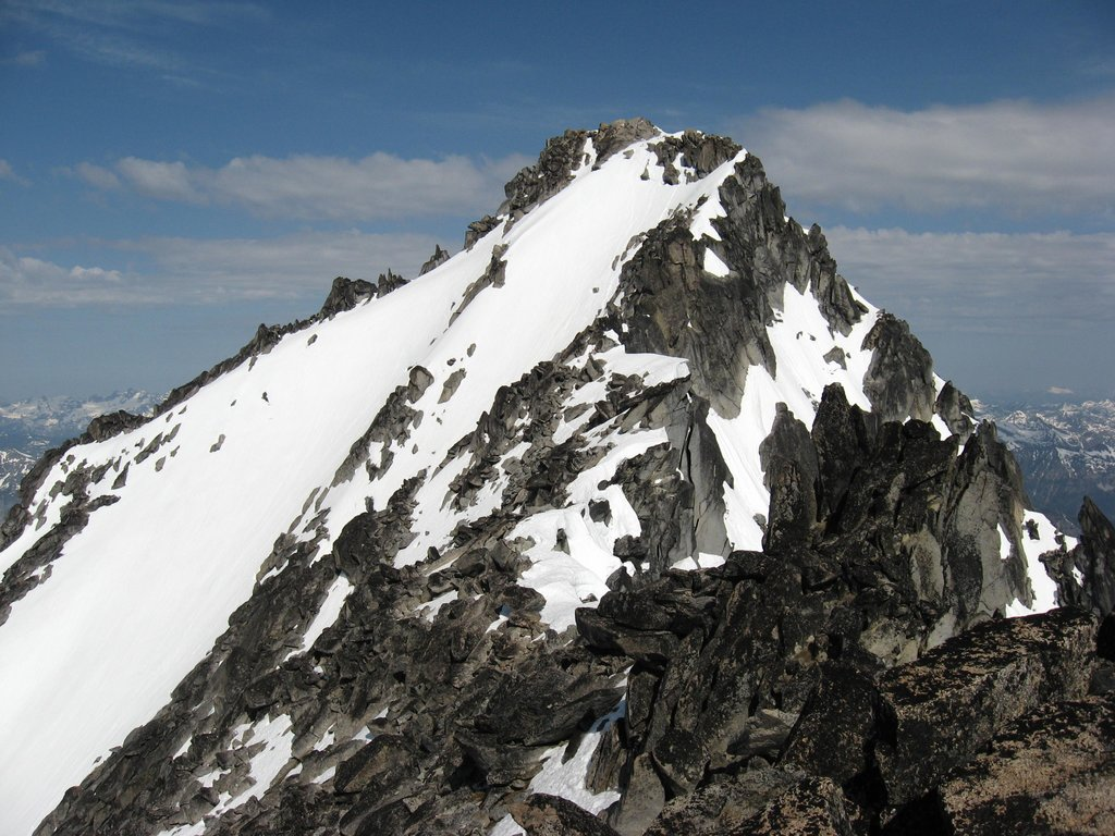 The true summit viewed from the east