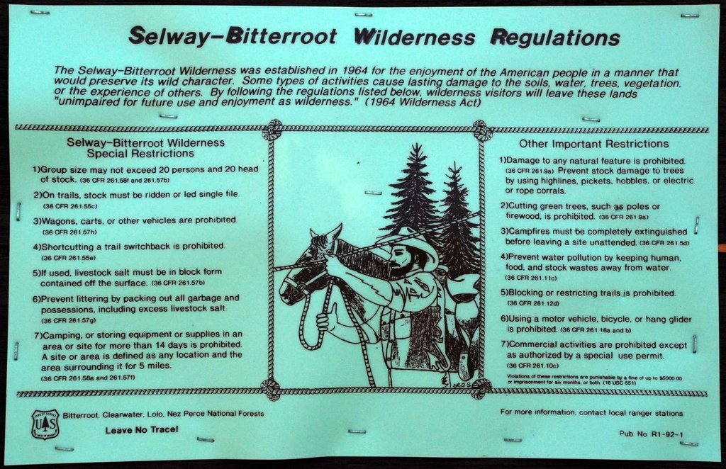 Wilderness Regulations