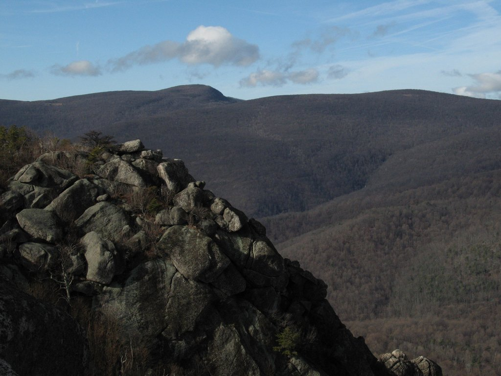 Sunshine Buttress/Upper Sunset Wall from Old Rag's Summit