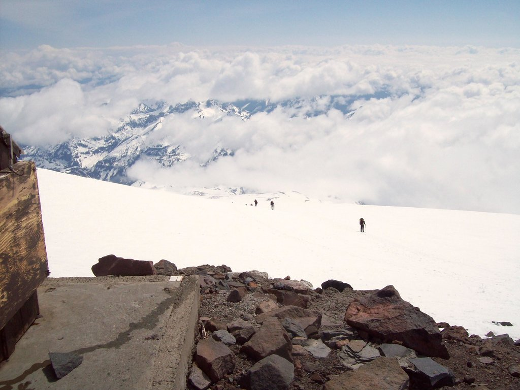 Looking down from Camp Muir