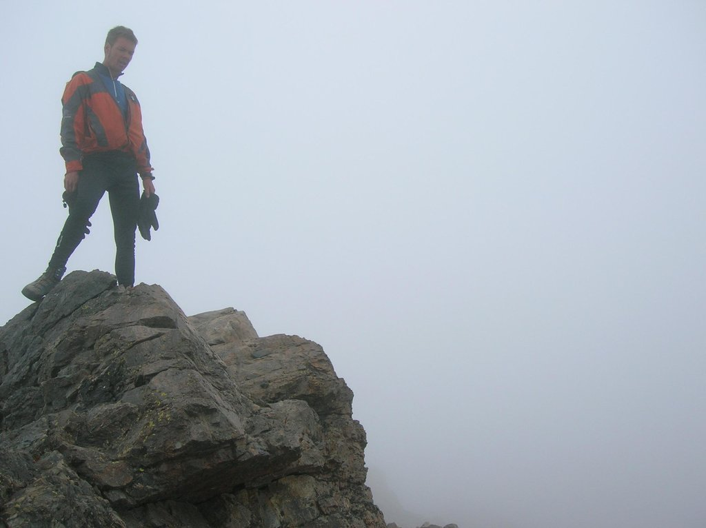 Olle on his false summit
