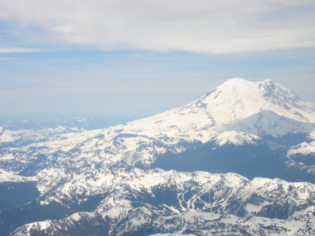Mount Rainier from the plane.