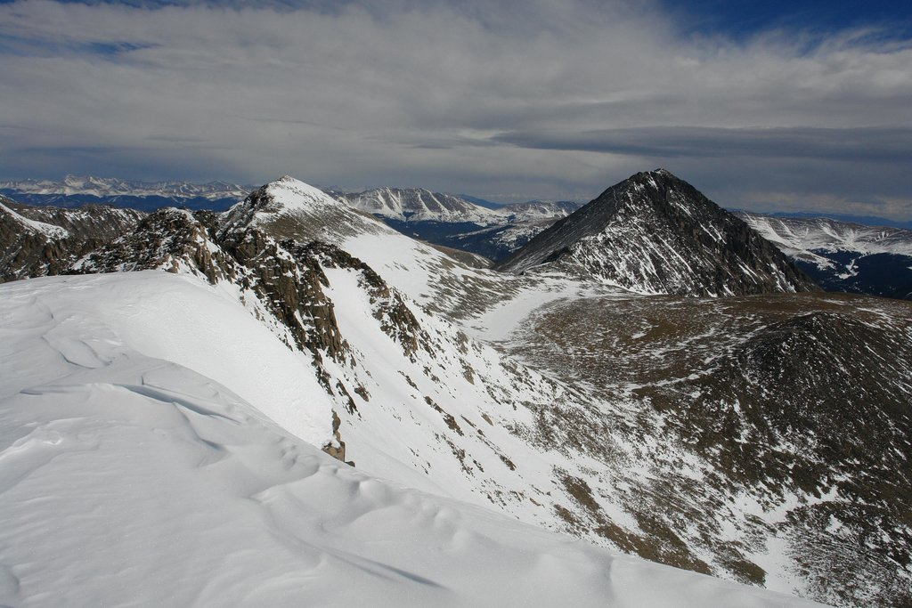 Fletcher Mountain and Quandary Peak from Drift Peak