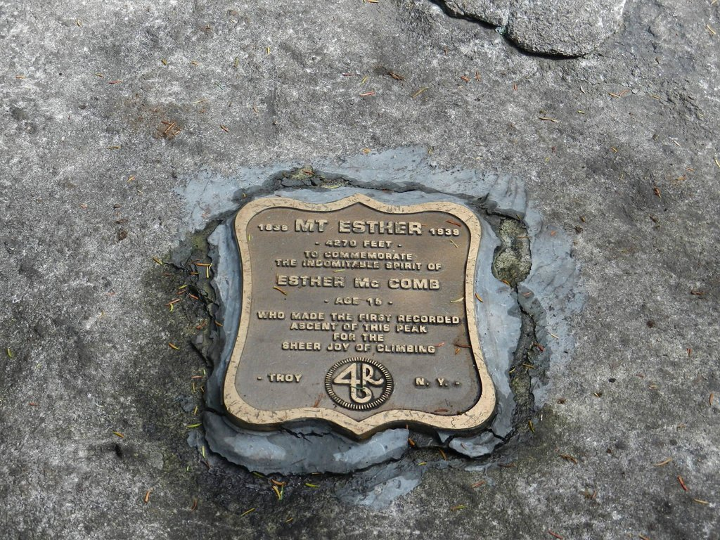 Mt. Esther Summit Plaque