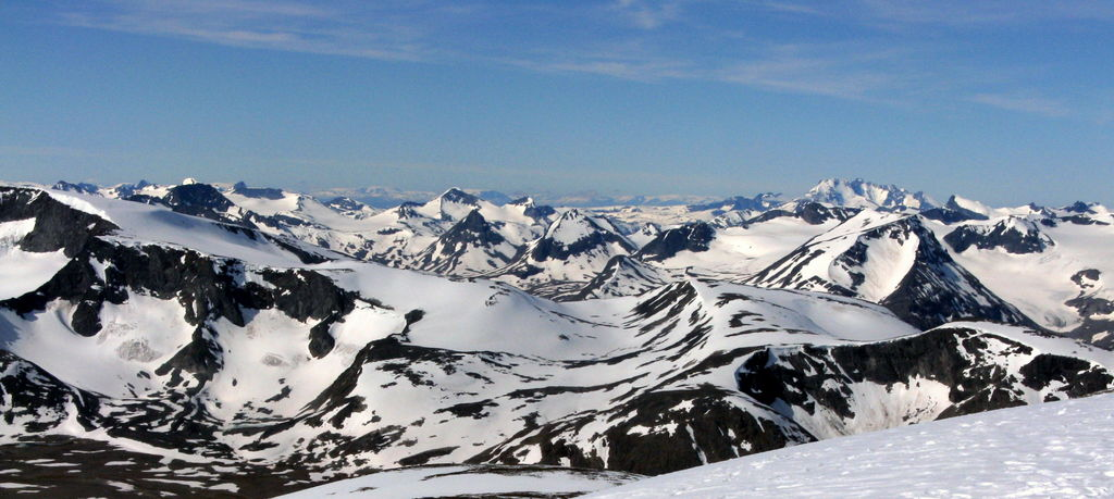 Jotunheimen area seen from Glittertinden