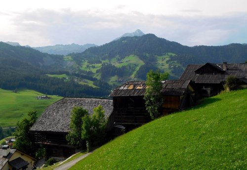 Tipical farms in Alta Badia valley