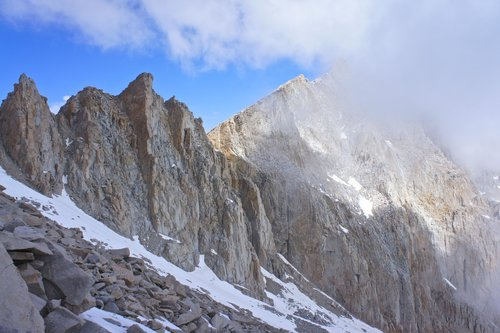 Mount Whitney in the Fog