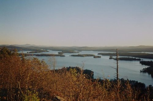 Shot of Squam Lake from West...