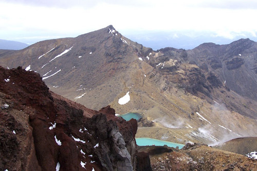 Emerald pools from Red Crater