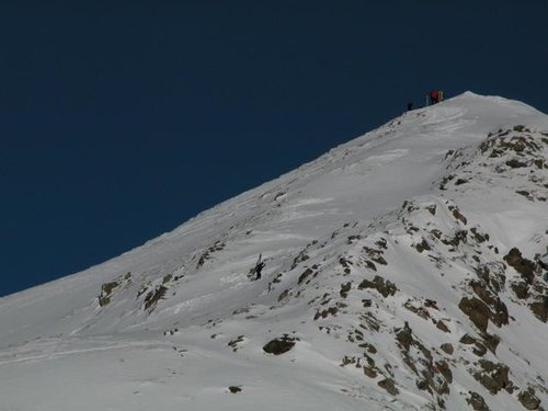 The upper part of the summit...