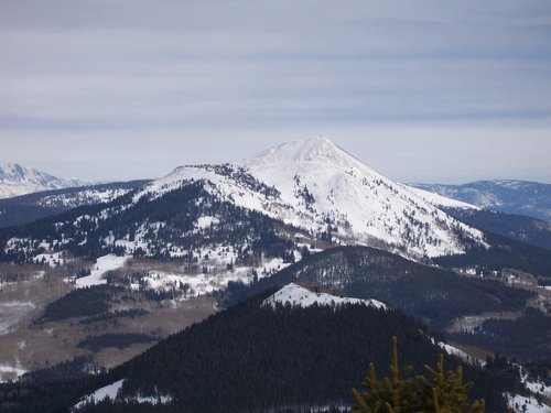Hahns Peak in winter