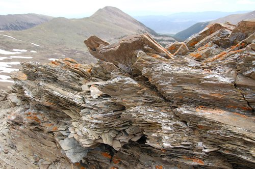 Laminated Sedimentary Shales near Electric Pass