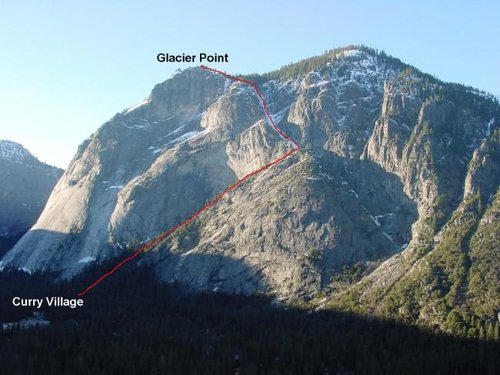 The Ledge Trail in Yosemite...