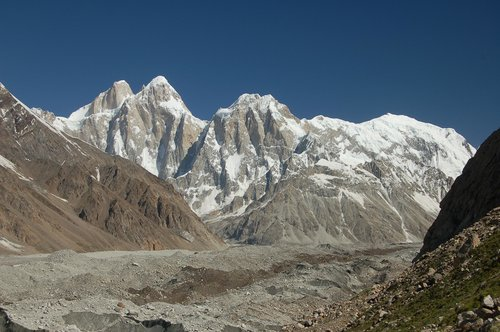 South Faces of the Pumari Chhish massif