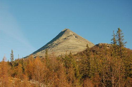 North side of Gaustatoppen