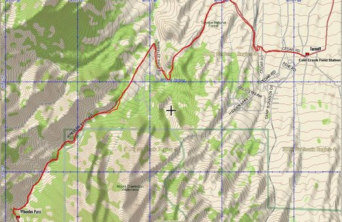 Wheeler Pass GPS Trace