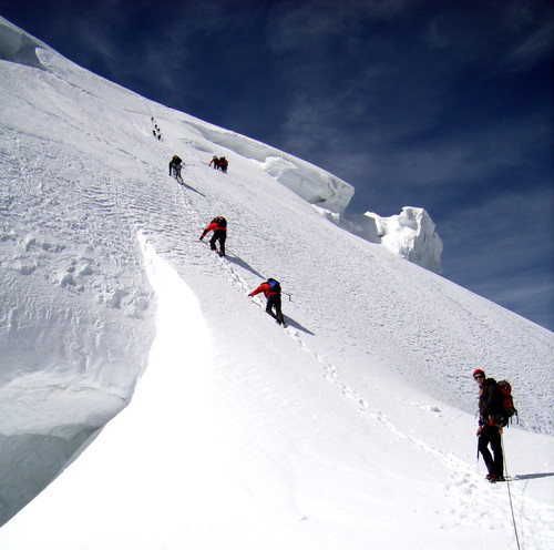 To the summit of Mt Blanc du Tacul