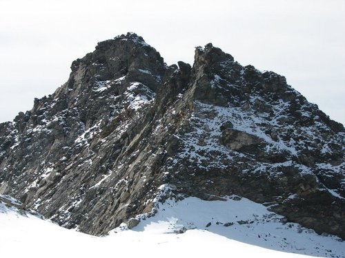 The wild north ridge of Grosser Happ, 3350m.