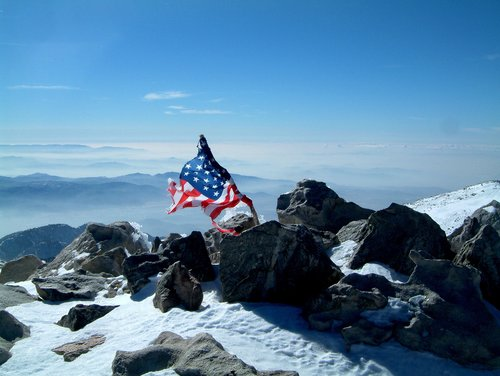 Old Glory on San Gorgonio summit