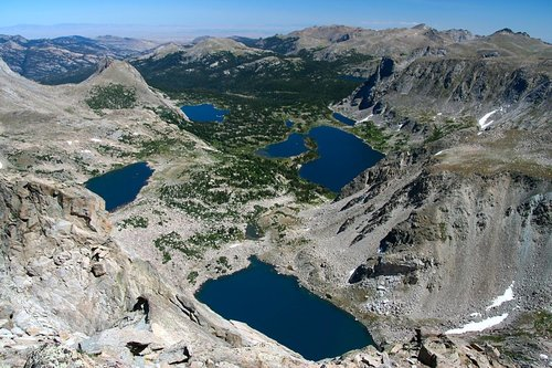 Valley of lakes from Washakie Summit
