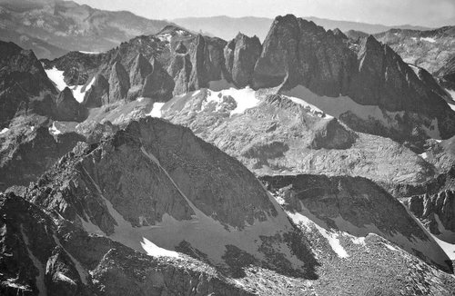 Devils Crags from Mt. Agassiz