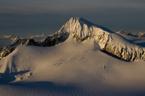 Winter light on Eldorado (aerial photography)
