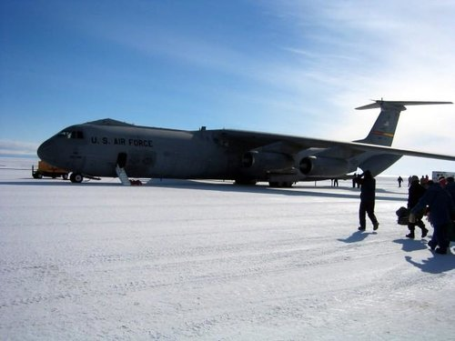 C-141 preparing to board for...