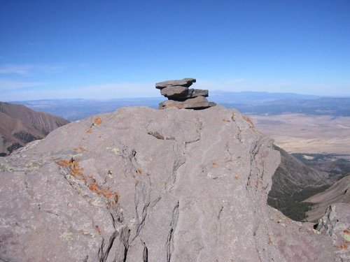 Eureka Mountains summit cairn...