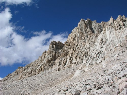 Our arete from the South