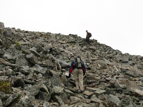 Boulderfield on La Plata Peak