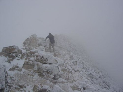 Nearing the summit of Mount...