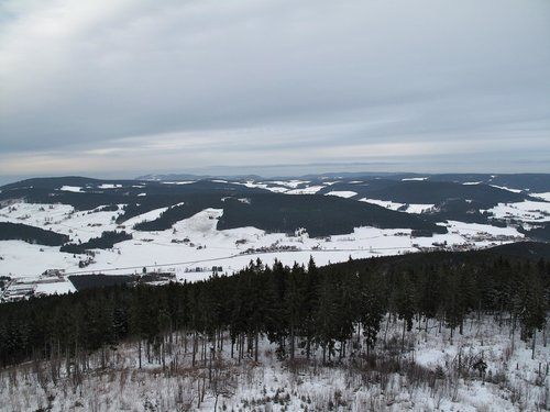 Overlooking a large part of the Hochschwarzwald