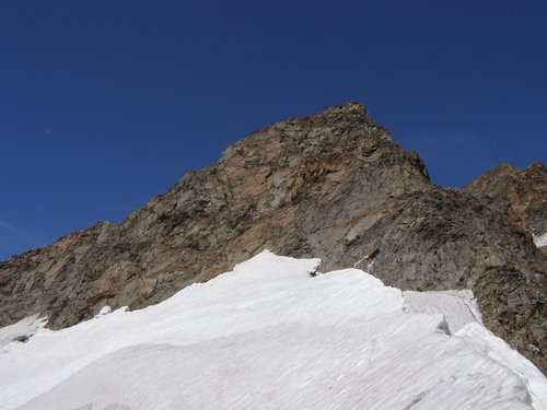 the summit in a sunny day of August