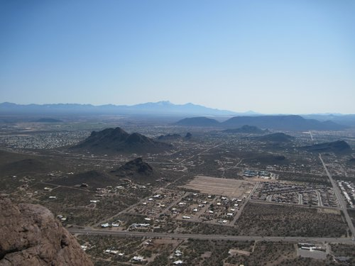 Southwest from the summit