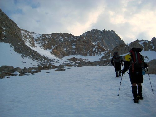 On the Approach to NE Couloir