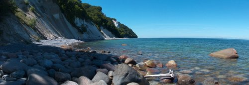 Beaches of erratic granite blocks in Jasmund national park