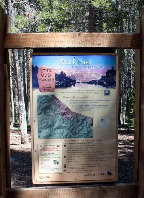 Wilderness Trailheads - Duck Pass Trailhead