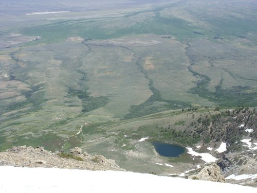 View east from the summit of Peak 10745