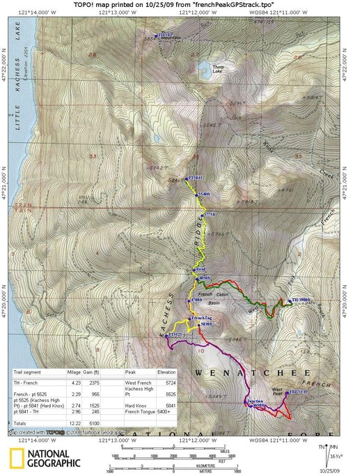 Kachess Ridge TOPO! map