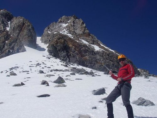 NorthEast Couloir - now the...