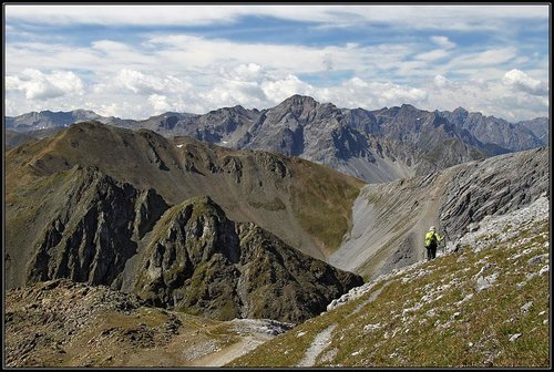 Along the Piz Lad ridge