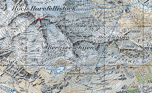 A segment of the topo map...