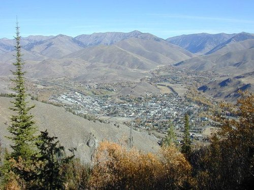 Ketchum & Sun Valley from the...