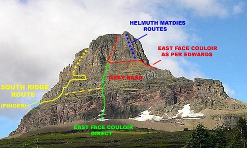 Routes: East Face, Clements Mountain