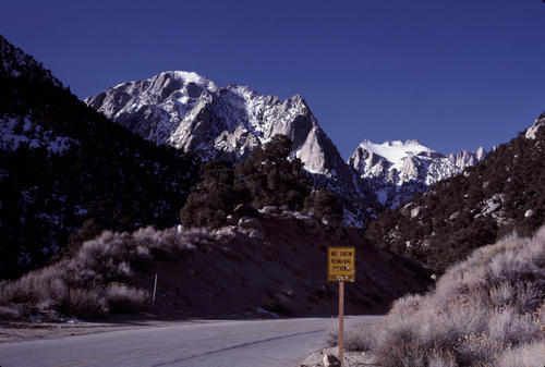 Whitney Portal Road in the Winter