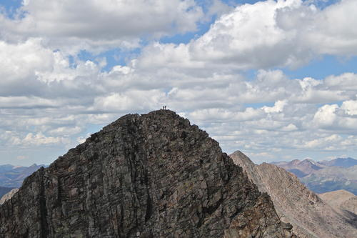 Climbers on the summit of Trinity Peak