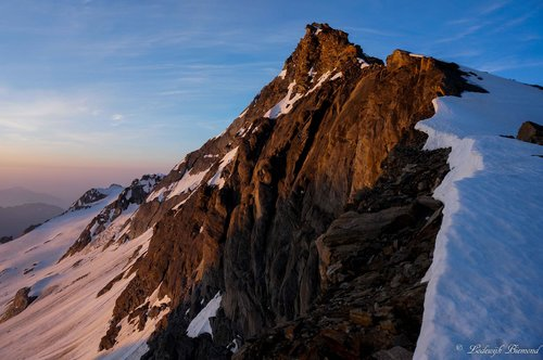 Pizzo d'Andolla NW-ridge at sunrise