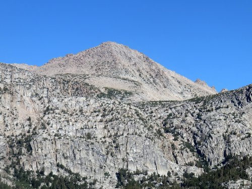 Zoom shot of Point 12744 from the Bishop Pass Trail