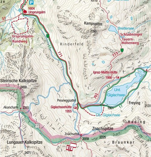 Giglachsee map